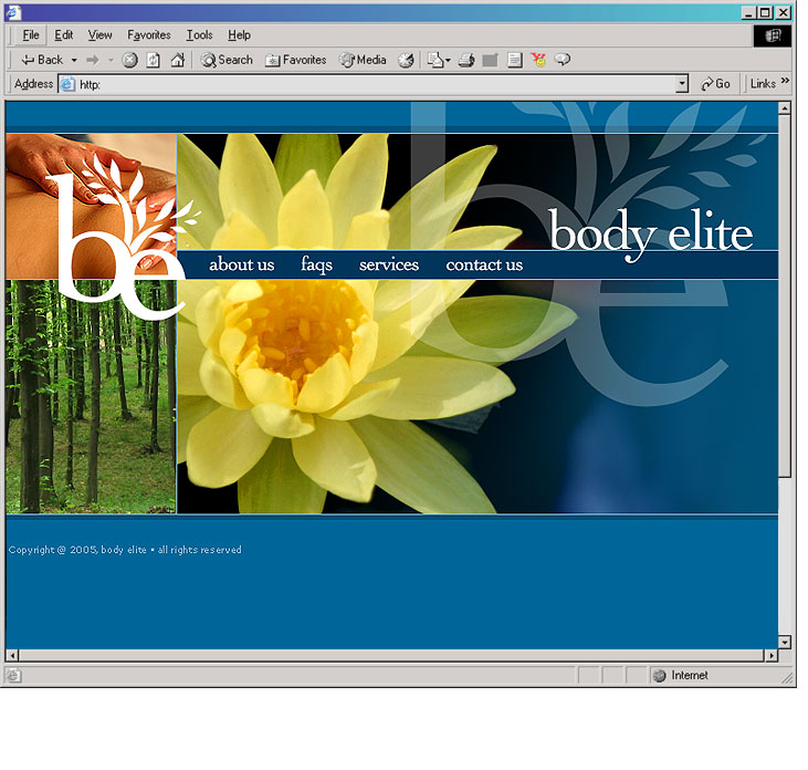 Body Elite Main Page